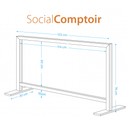 Social window comptoir