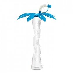 Gourde palmier bleue